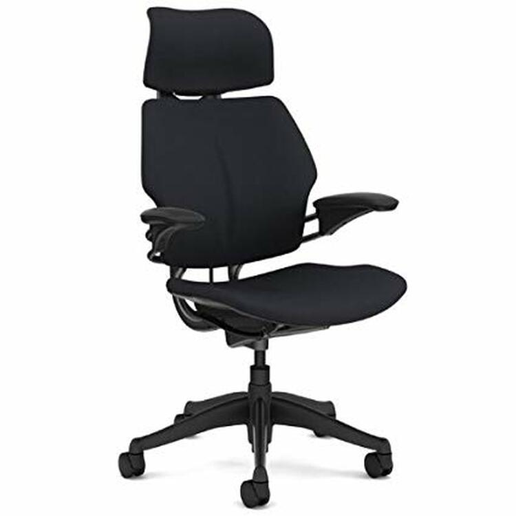 Humanscale Freedom Chair Fully Adjustable Model With Headrest Black