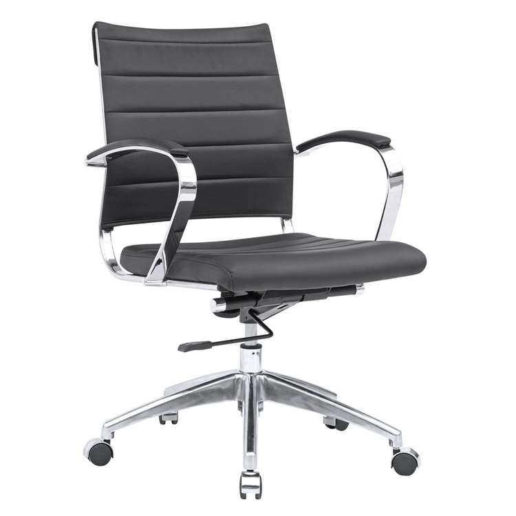 Sopada Conference Office Chair Mid Back, Black by Fine Mod