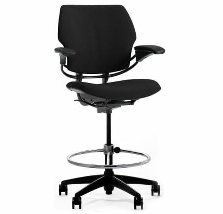 Humanscale Freedom Chair Stool Fully Adjustable Model in Black