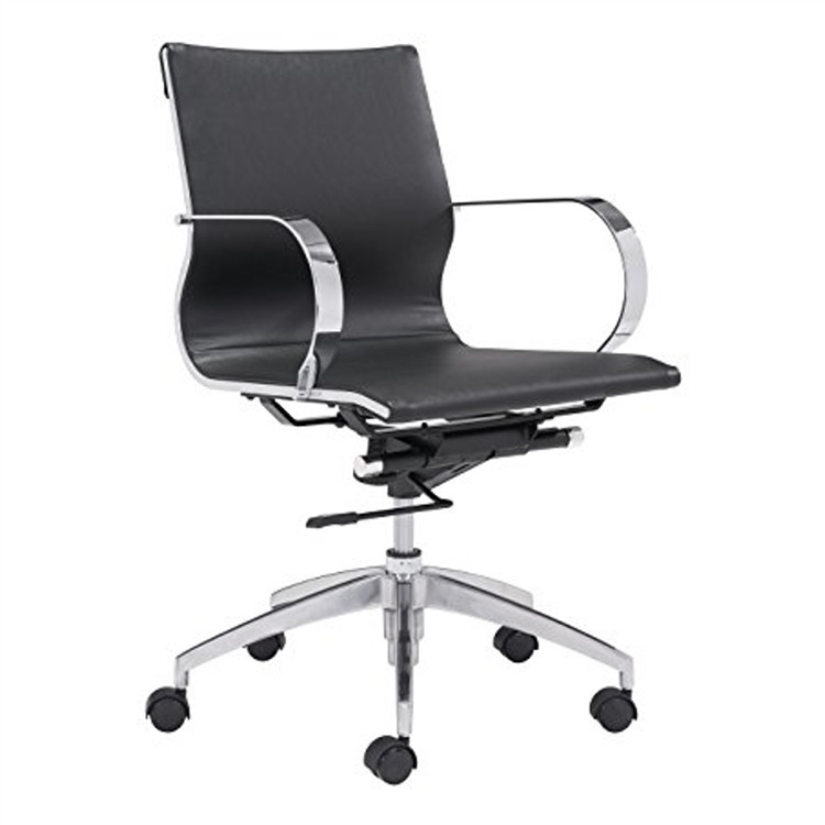 Conference Office Chair Mid Back, Black by Fine Mod