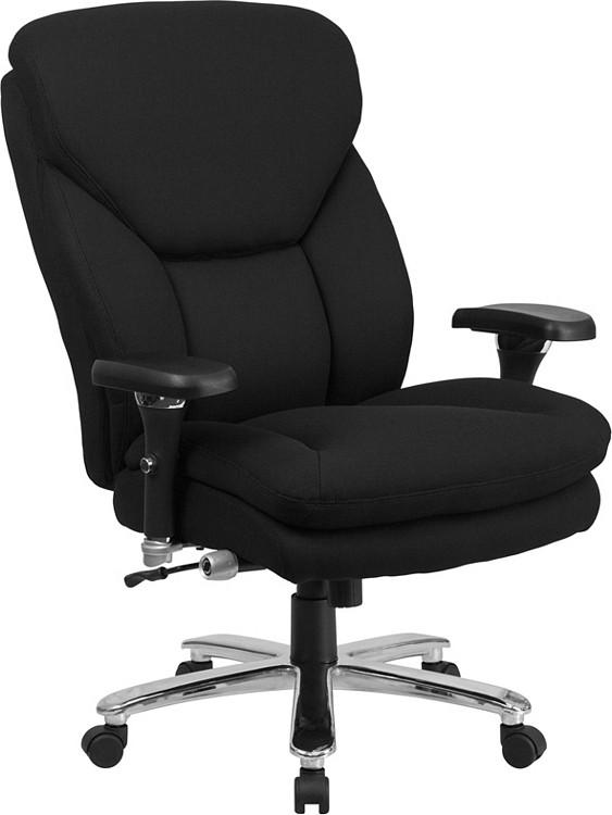 215b447f43e Flash Furniture HERCULES Series 24 7 Intensive Use Big   Tall 400 lb. Rated  Black Fabric Executive Swivel Chair with Lumbar Knob