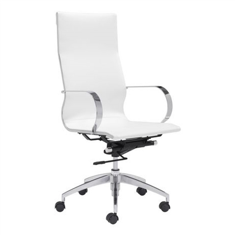 Conference Office Chair High Back, White by Fine Mod