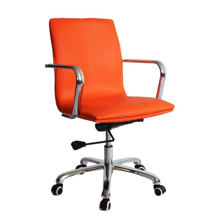 Confreto Conference Office Chair Mid Back, Orange by Fine Mod