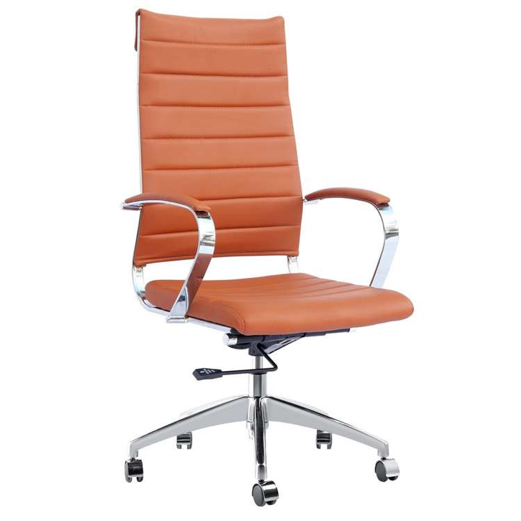 Sopada Conference Office Chair High Back, Light Brown by Fine Mod