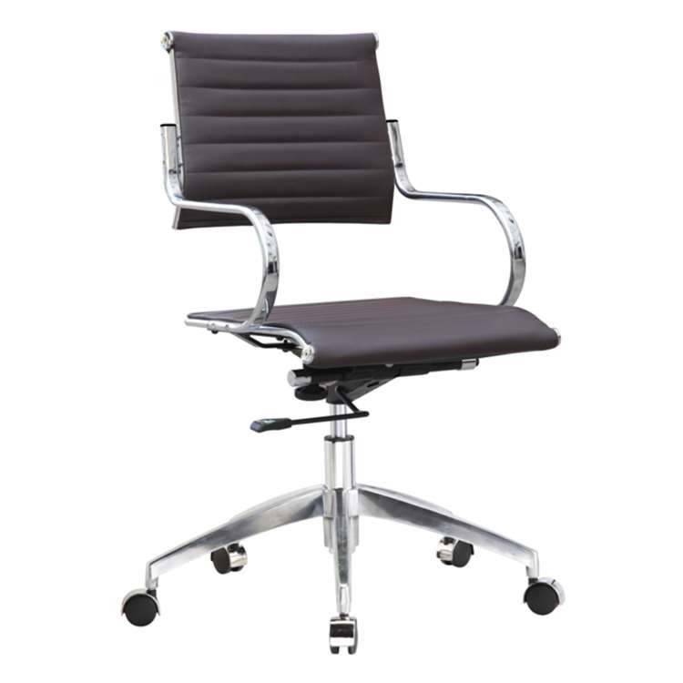 Flees Office Chair Mid Back, Dark Brown by Fine Mod