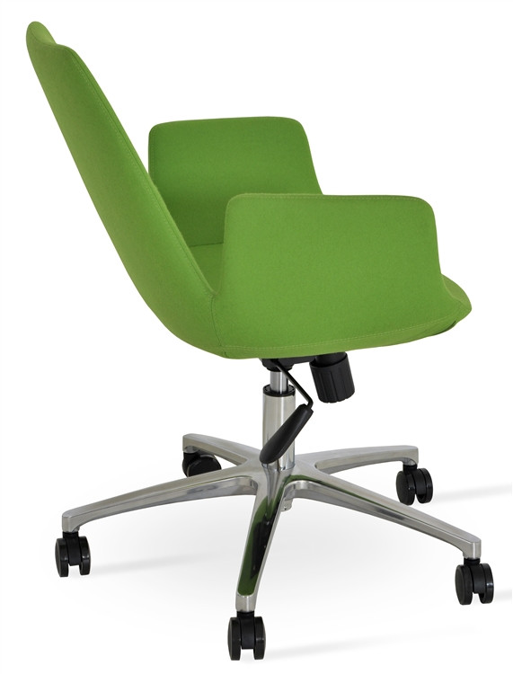 Soho Concept Eiffel Arm Office Chair in Wool