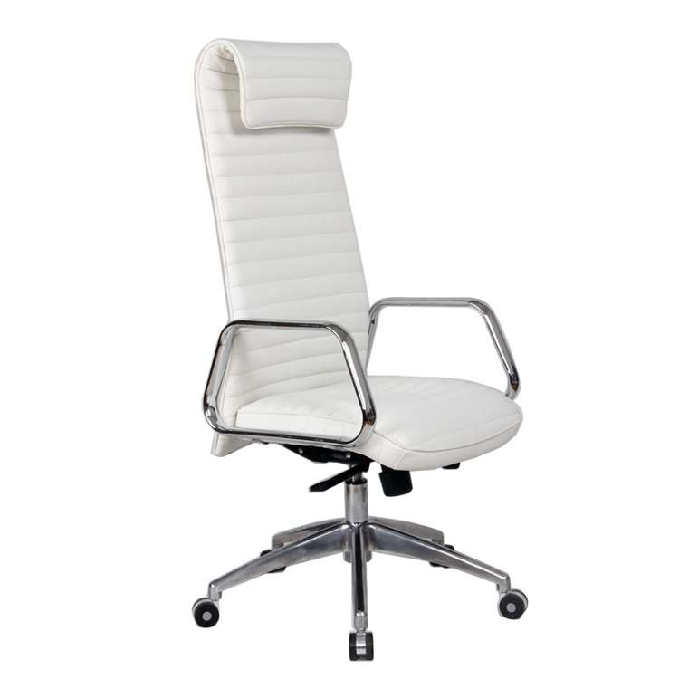 Ox Office Chair High Back, White by Fine Mod