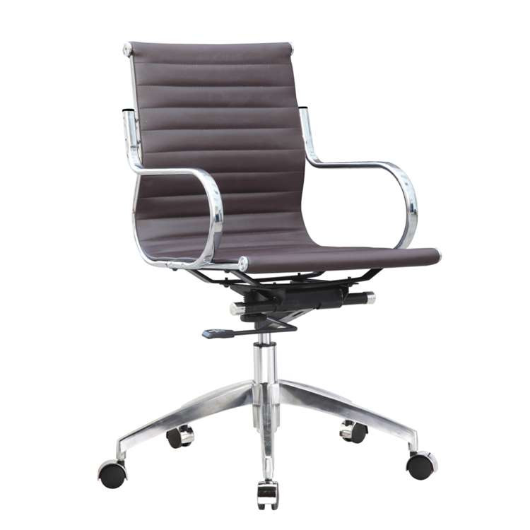 Twist Office Chair Mid Back, Dark Brown by Fine Mod