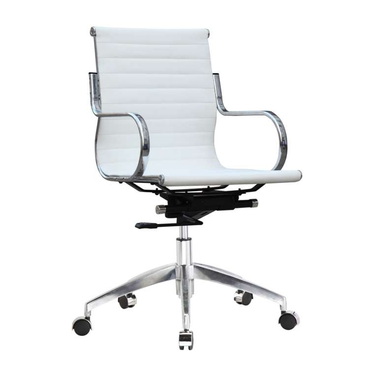 Twist Office Chair Mid Back, White by Fine Mod
