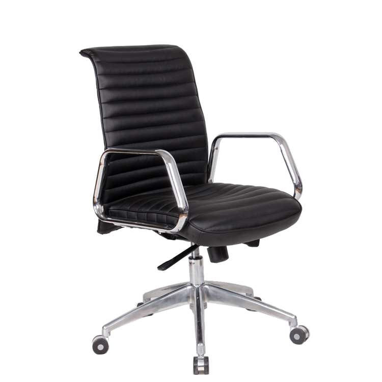 Ox Office Chair Mid Back, Black by Fine Mod