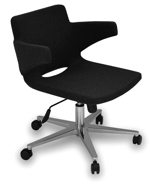 Soho Concept Nevada Arm Office Chair in Leatherette