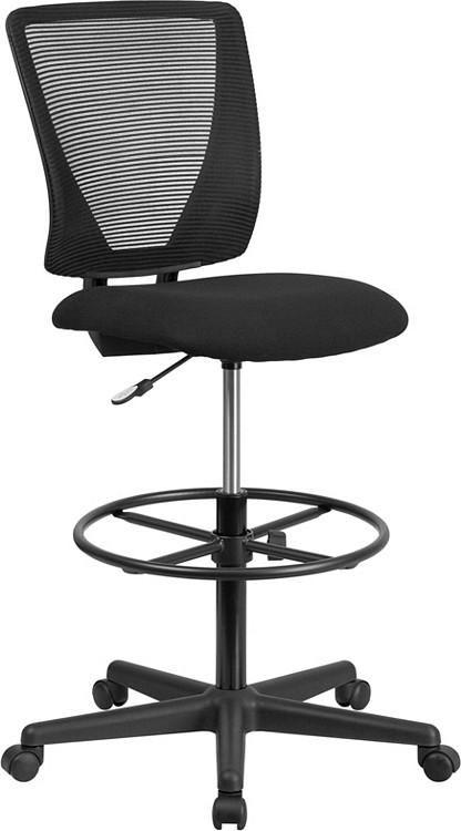 Flash Furniture Ergonomic Mid Back Mesh Drafting Chair