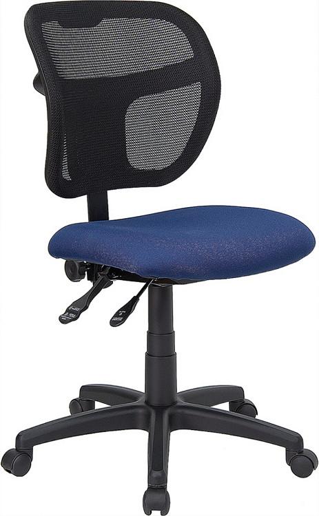 Flash Furniture Mid Back Navy Blue Mesh Swivel Task Chair