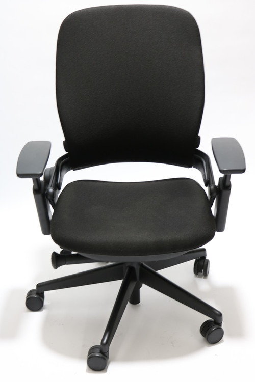 Steelcase Leap Chair V2 Fully Adjustable In Black Fabric