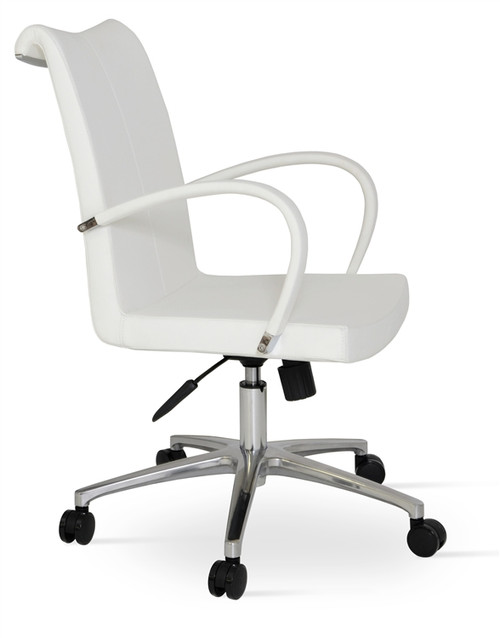 Soho Concept Tulip Arm Office Chair In Wool Seatingmind Com
