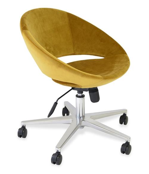 Soho Concept Crescent Office Chair In Velvet Seatingmind Com