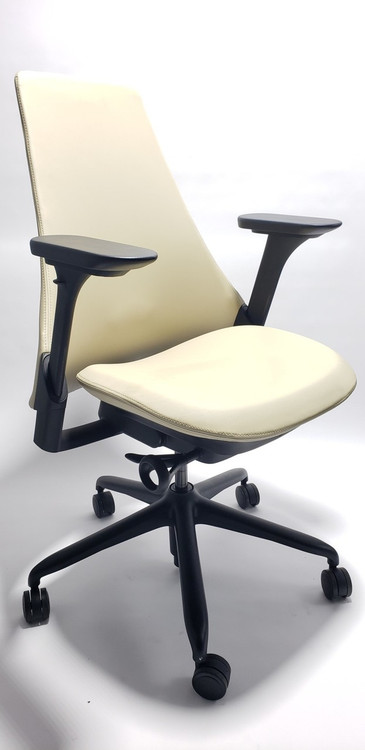Herman Miller Sayl Chair Ivory Soft Leather Upholstered