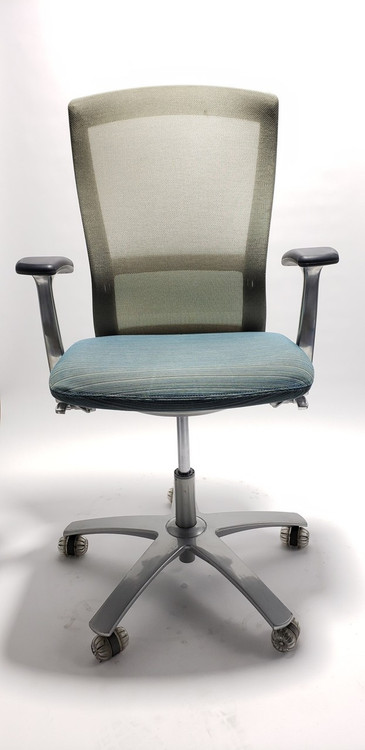 Knoll Life Chair Fully Adjustable Model Teal Mesh