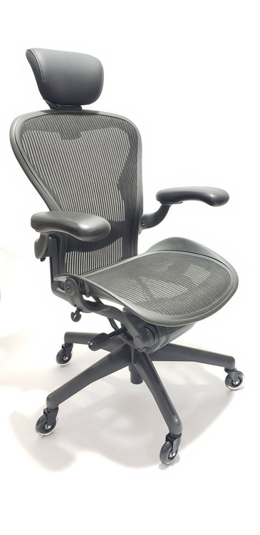 Herman Miller Aeron Chair Size B Fully Featured Gray