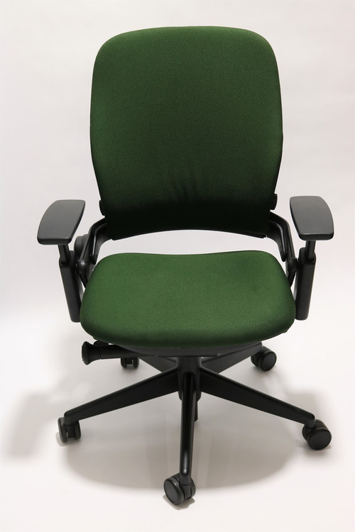 Steelcase Leap Chair V2 Green Fabric Seatingmind