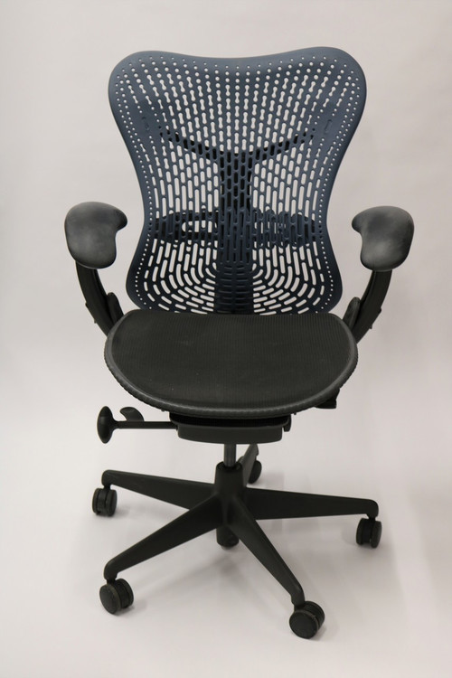 Herman Miller Mirra Chair Fully Featured Navy Flex Back