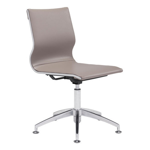 Zuo Modern Glider Conference Chair Taupe Seatingmind Com
