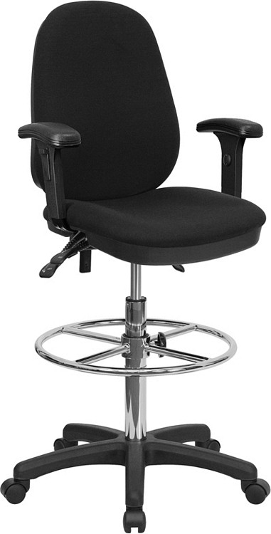 Flash Furniture Black Multifunction Ergonomic Drafting