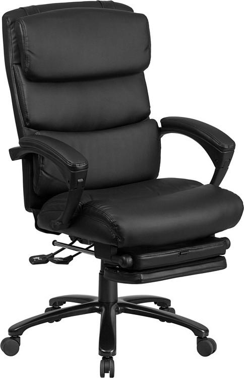 Flash Furniture High Back Black Leather Executive