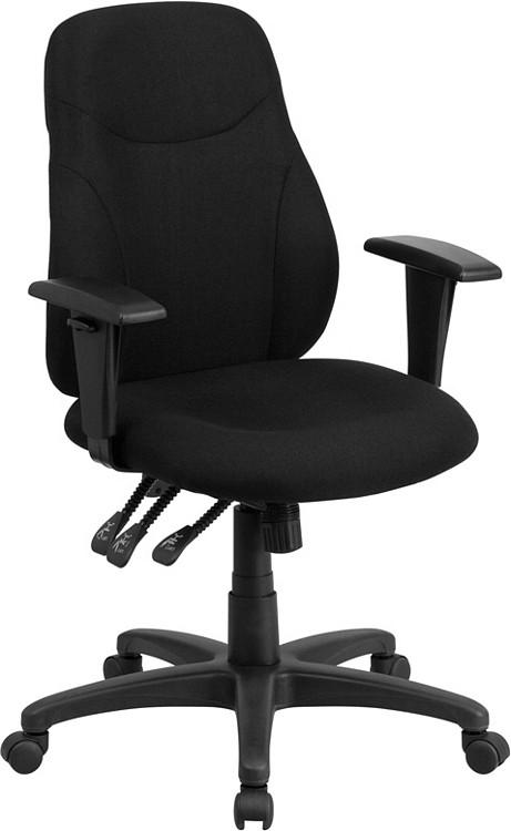 Flash Furniture Mid Back Black Fabric Multifunction