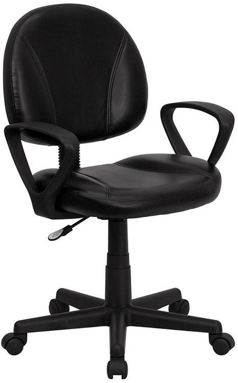Flash Furniture Mid Back Black Leather Ergonomic Swivel