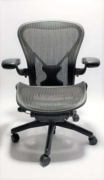 Herman Miller Aeron Chair Fully Featured Gray W Posturefit