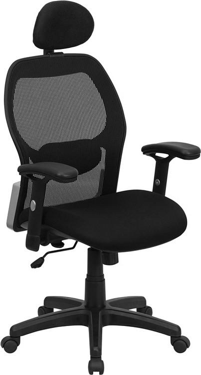 Flash Furniture High Back Black Super Mesh Executive