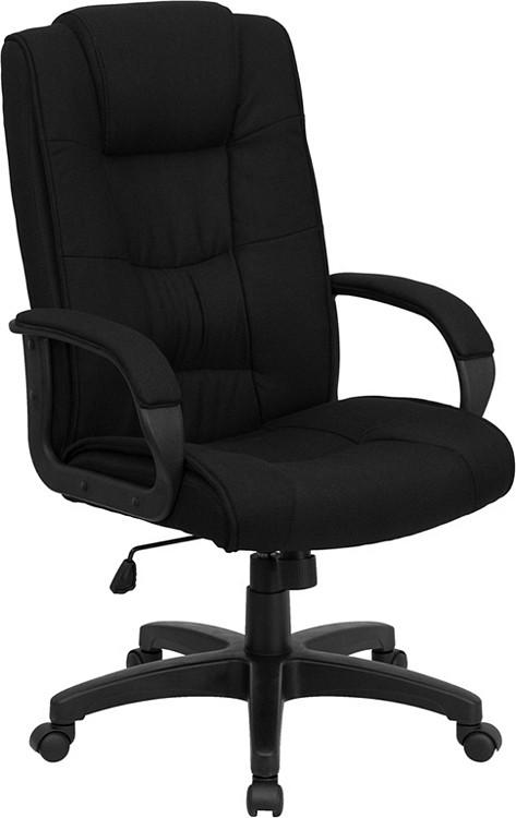 Flash Furniture High Back Black Fabric Executive Swivel