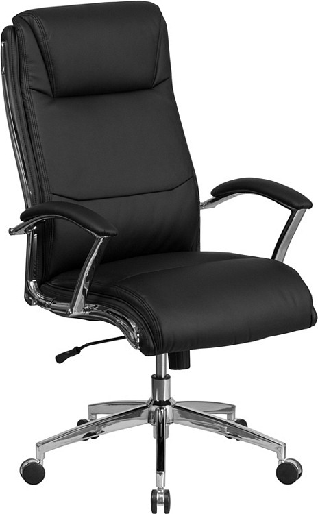 Flash Furniture High Back Designer Black Leather Executive