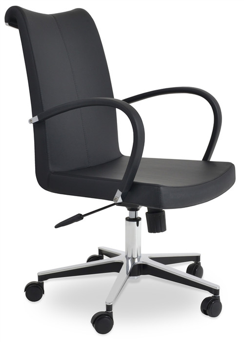 Soho Concept Tulip Arm Office Chair In Leather