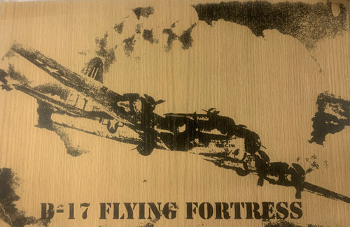B-17 Flying Fortress Rustic Wood Sign