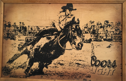 Coors Light Rodeo Rustic Wood Sign