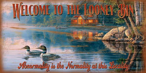 Welcome to the Looney Bin Novelty Sign