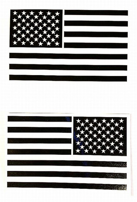 Black & White Flags Mirrored Decal Stickers