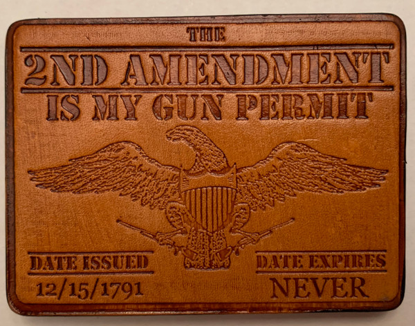 2nd Amendment Leather Patch by Wild Webb LeatherWorks