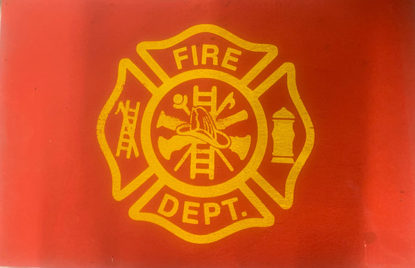 Fire Department Wood Sign (Red)