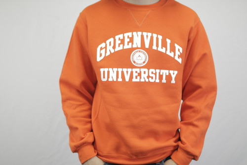 Orange Russell Dri-Power Crewneck