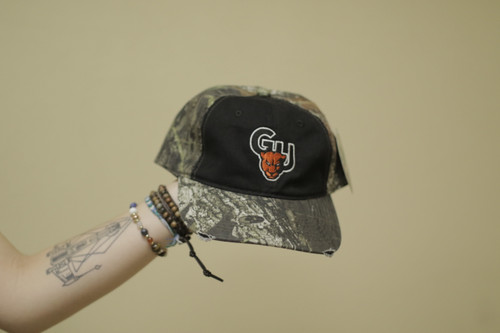 Camo Hat w/ Contrast Front Panel