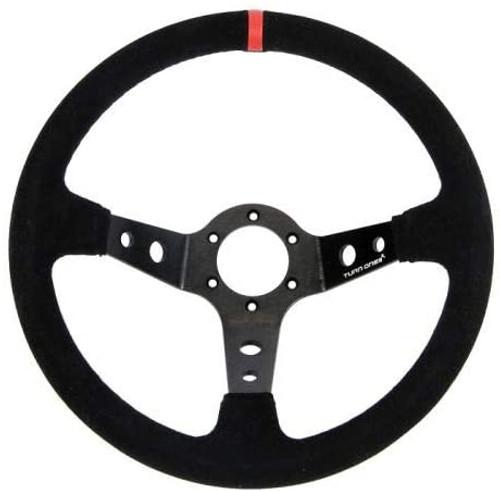 Turn One 90mm Dished Suede Steering Wheel