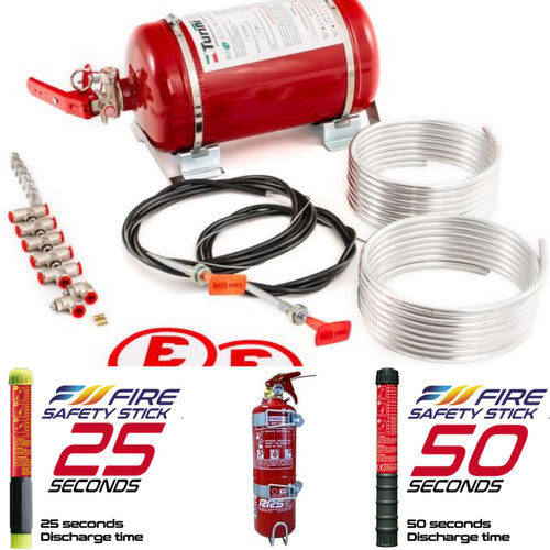 FIA Fire Extinguisher 3-Piece Package