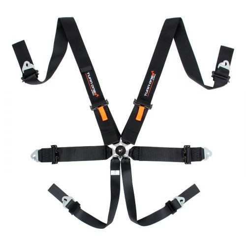 "Turn One Speed 3"" 75mm 6PT Harness"