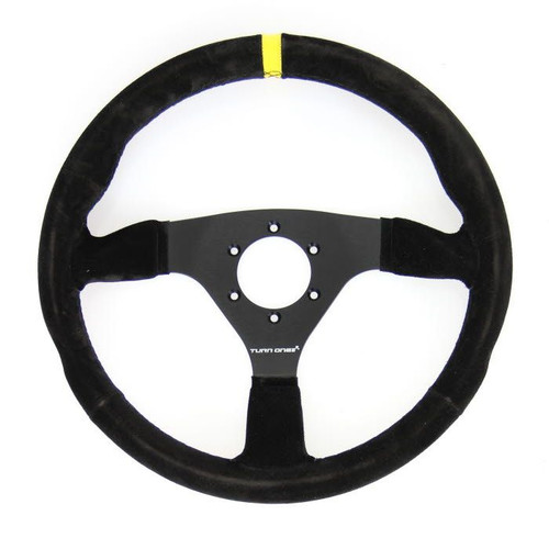 Turn One 330mm Flat Suede Steering Wheel