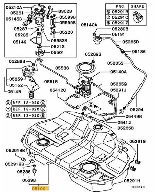 Mitsubishi Evo 8/9 Fuel Tank