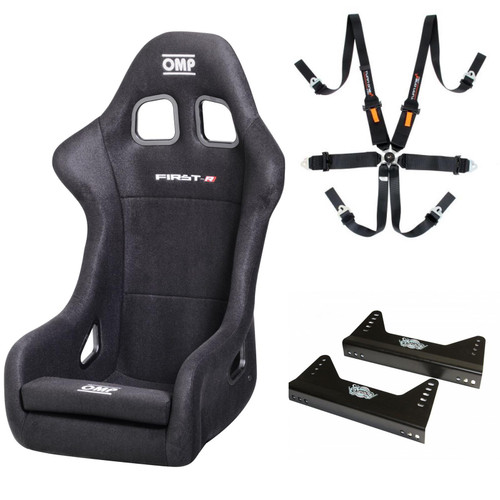 OMP First Seat, Harness & Bracket FIA Approved Package