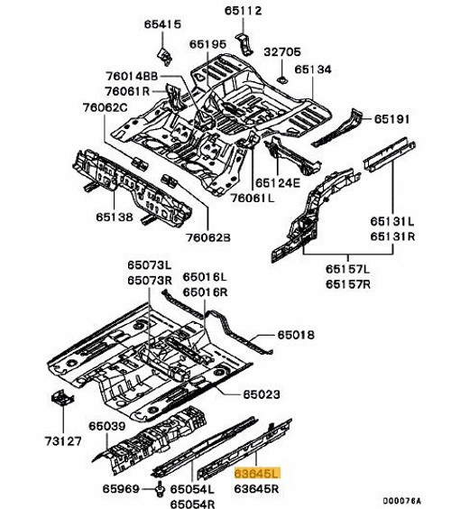 Mitsubishi Evo CT9A Floor Inner Sill